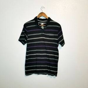 4/$25 OP striped short sleeve polo shirt  small